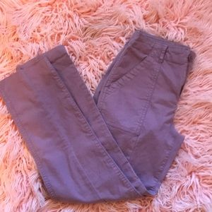 Purple old navy ankle pants